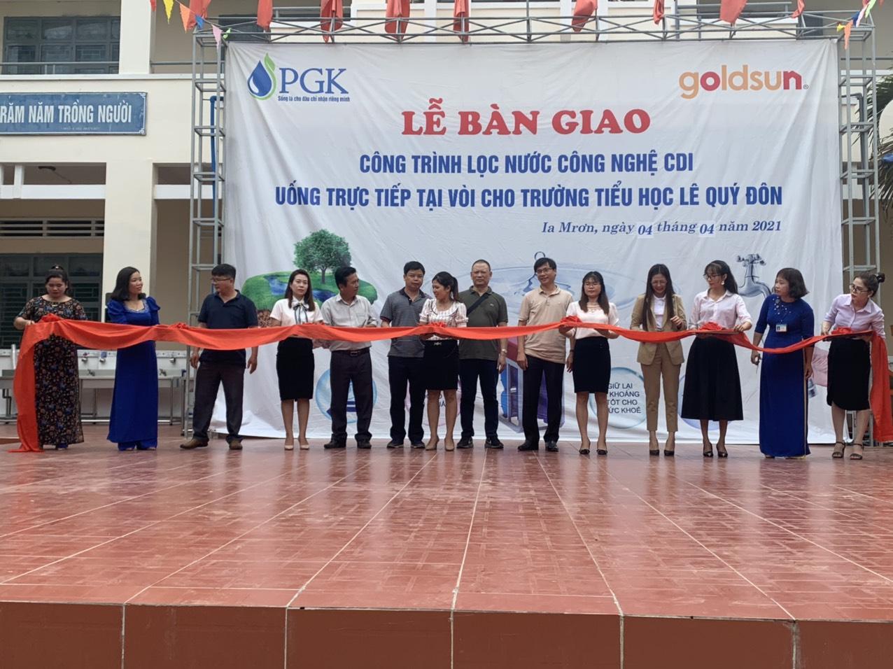 Lễ bàn giao công trình lọc nước công nghệ CDI tại trường tiểu học tỉnh Gia Lai